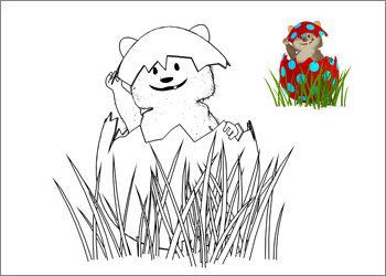Ausmalbild #2 – Thema Ostern